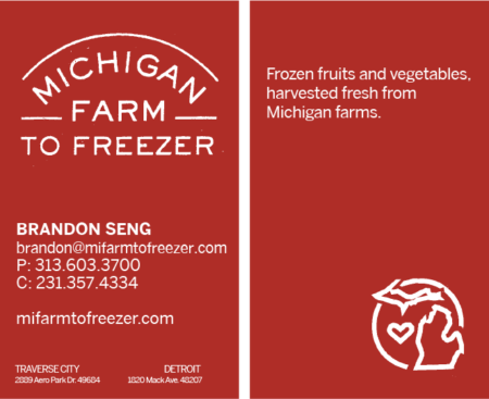 Michigan farm to freezer business cards kristen talaga creative michigan farm to freezer business cards colourmoves